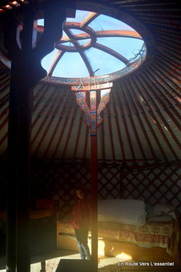 Yourte mongole en centre Bretagne
